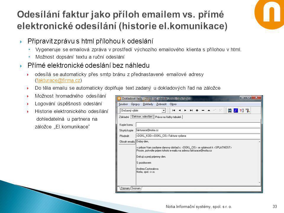 Odesílání faktur jako příloh emailem vs