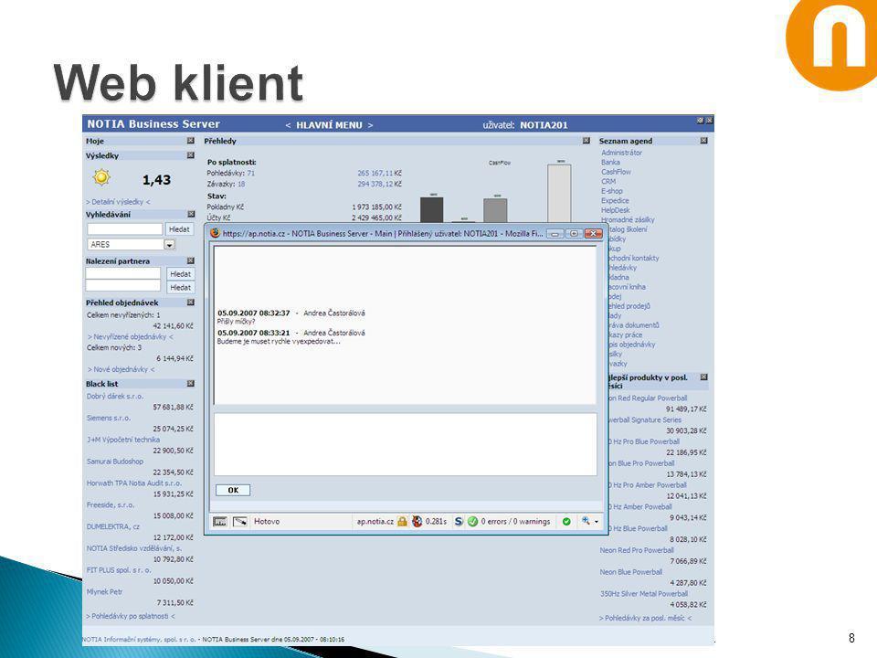 Web klient Notia Informační systémy, spol. s r. o.