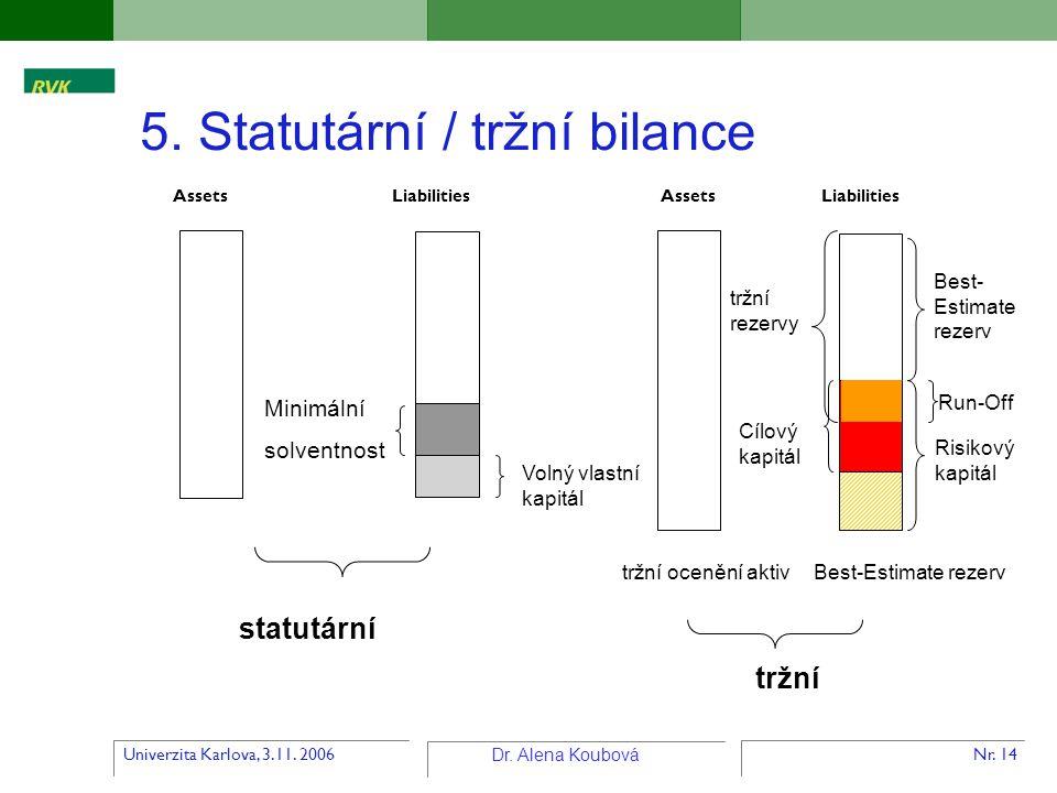 5. Statutární / tržní bilance