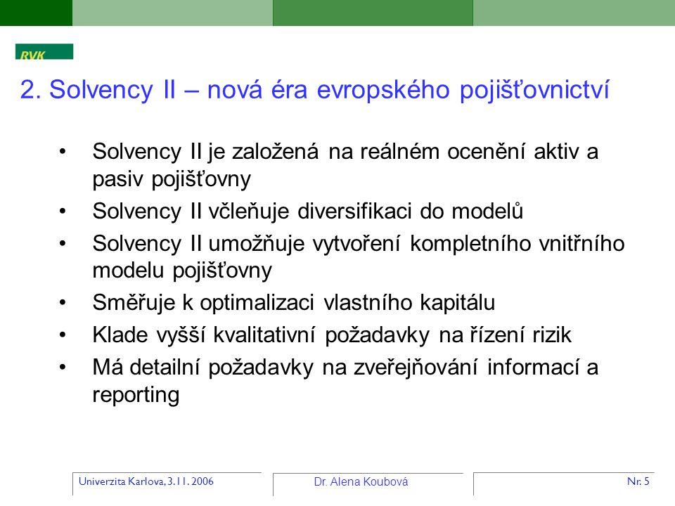 2. Solvency II – nová éra evropského pojišťovnictví