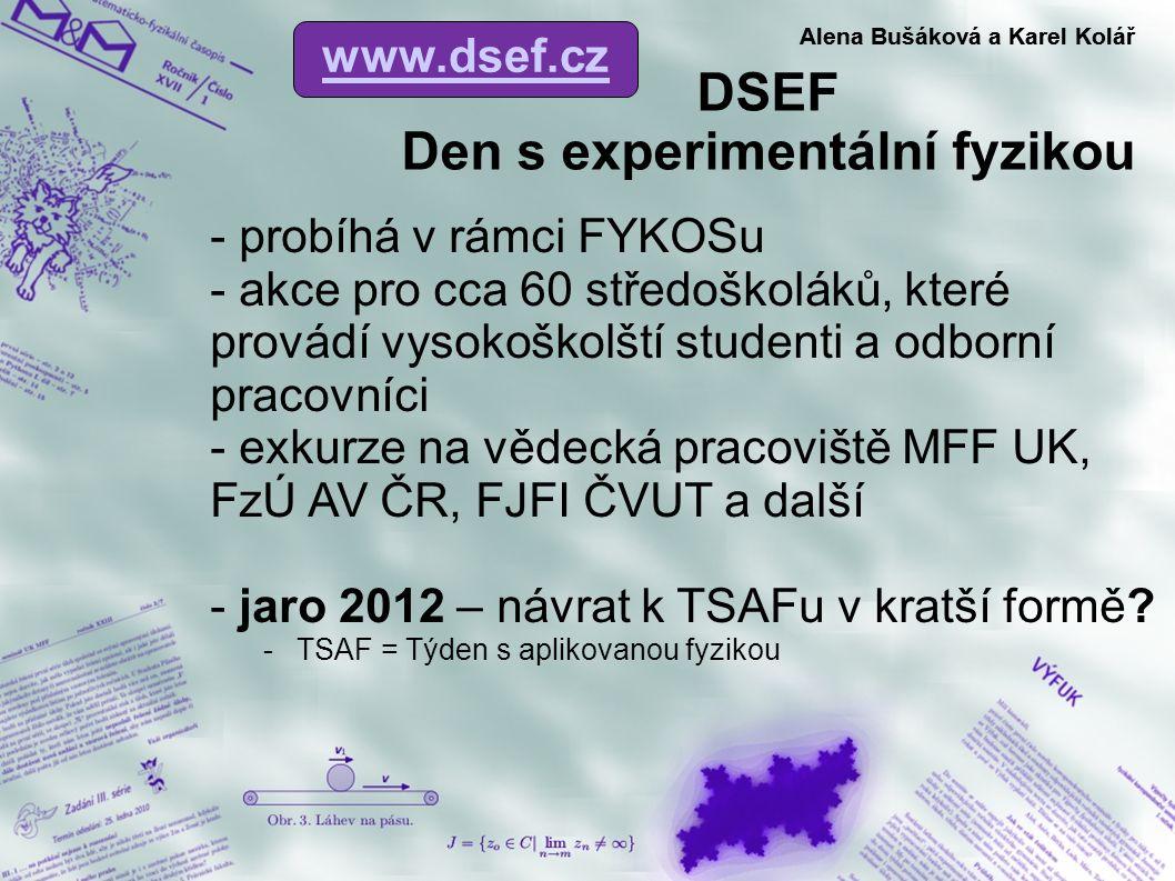 DSEF Den s experimentální fyzikou