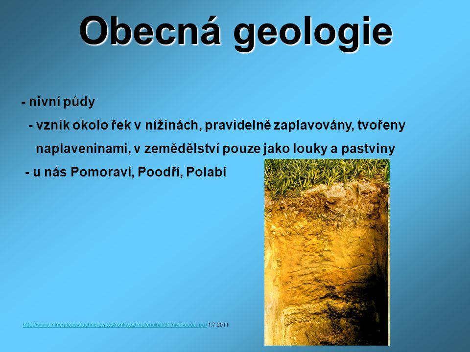 Obecná geologie - nivní půdy