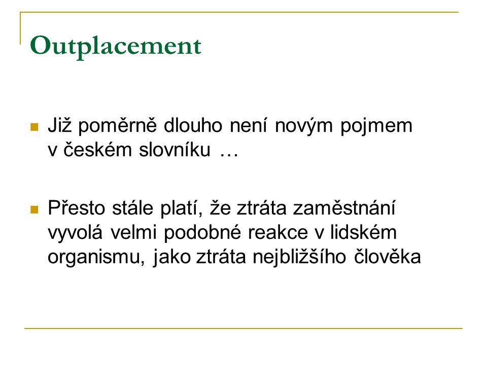 Outplacement Již poměrně dlouho není novým pojmem v českém slovníku …