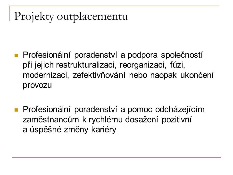 Projekty outplacementu