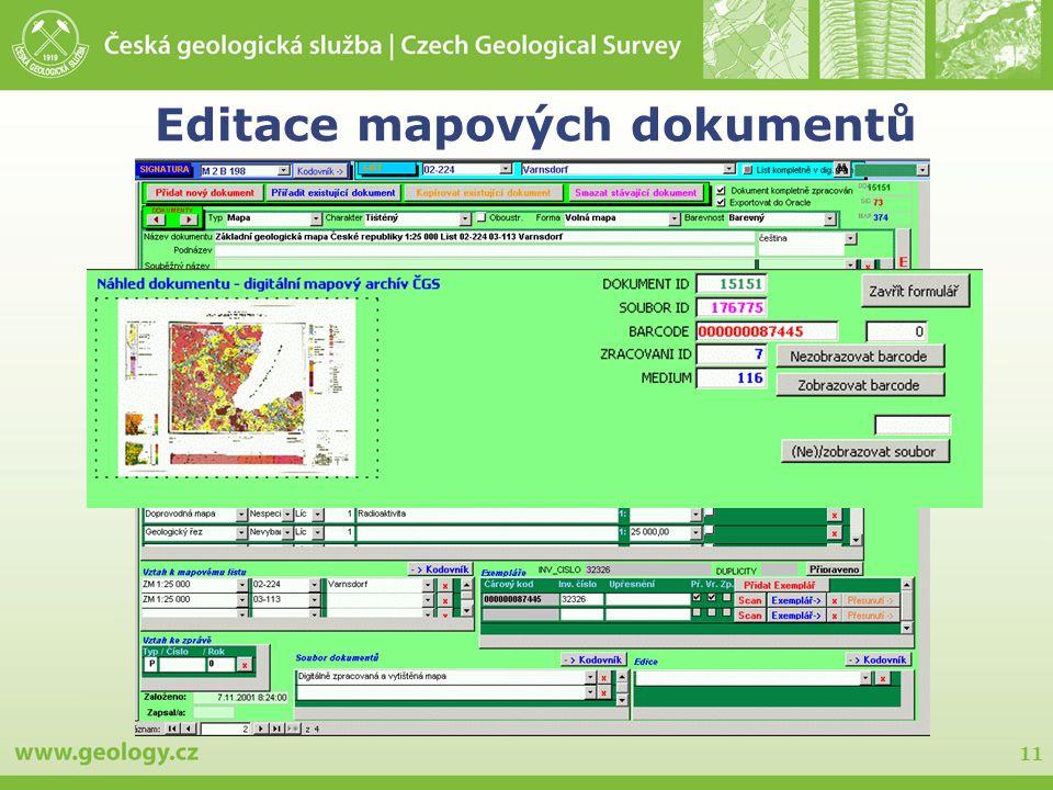 Editace mapových dokumentů