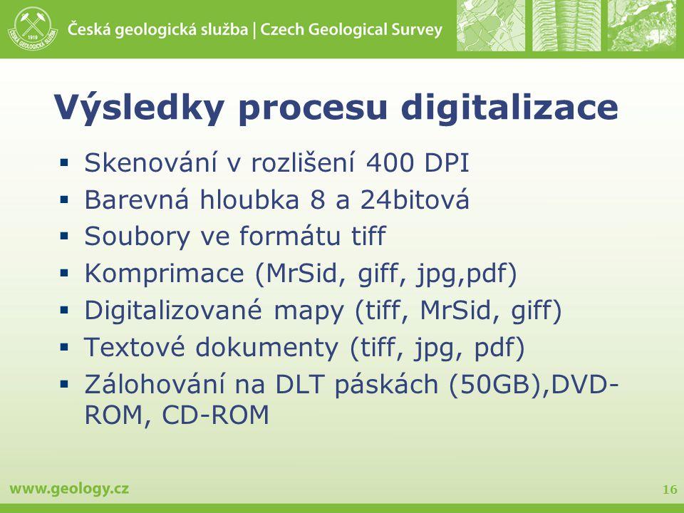Výsledky procesu digitalizace