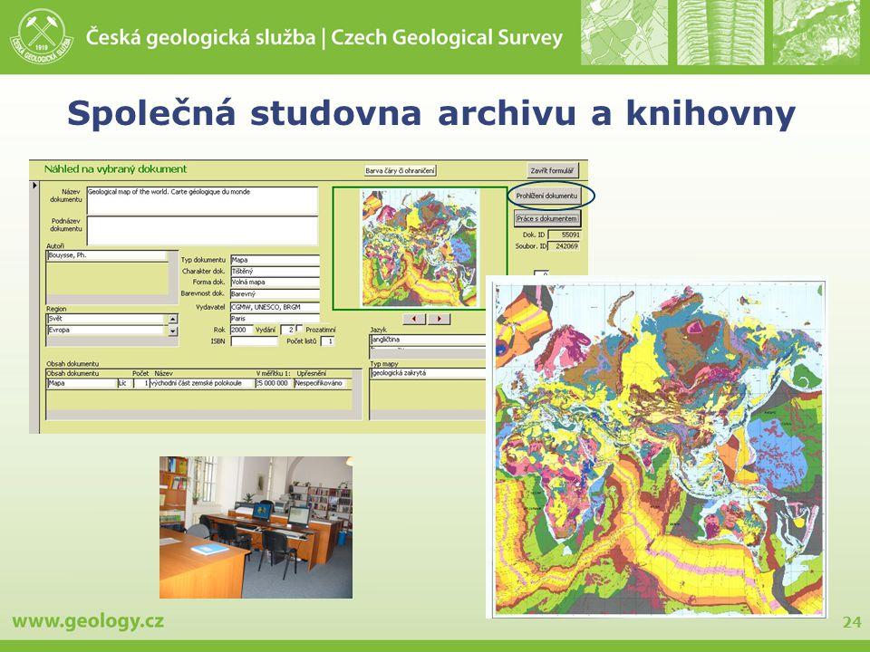 Společná studovna archivu a knihovny