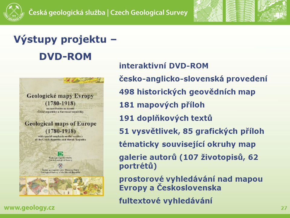 Výstupy projektu – DVD-ROM