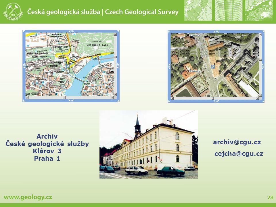 České geologické služby