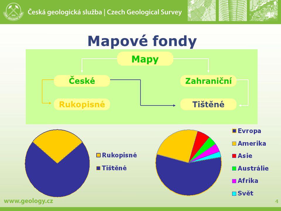 Mapové fondy Mapy České Zahraniční Rukopisné Tištěné