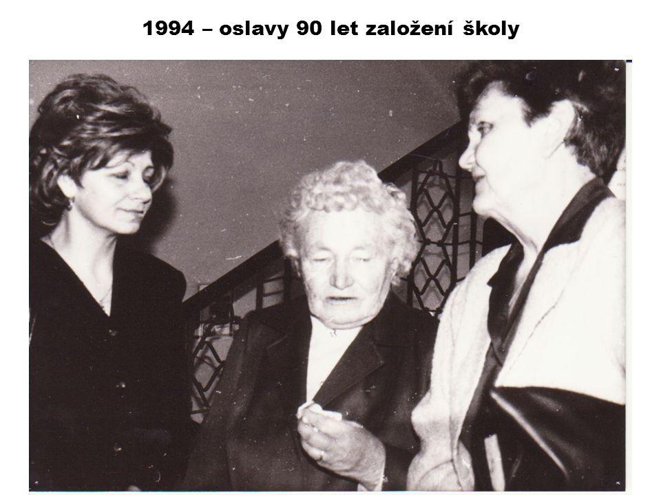 1994 – oslavy 90 let založení školy