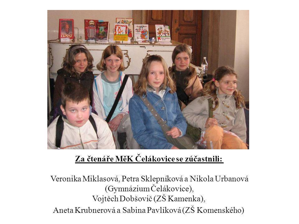 Za čtenáře MěK Čelákovice se zúčastnili: