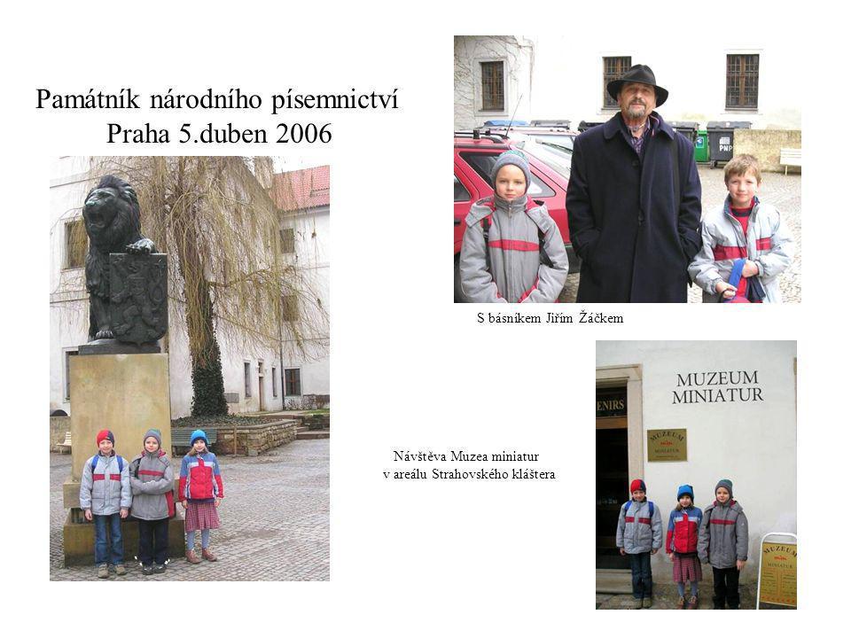 Památník národního písemnictví Praha 5.duben 2006