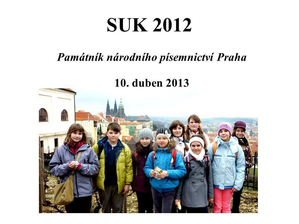 Památník národního písemnictví Praha 10. duben 2013