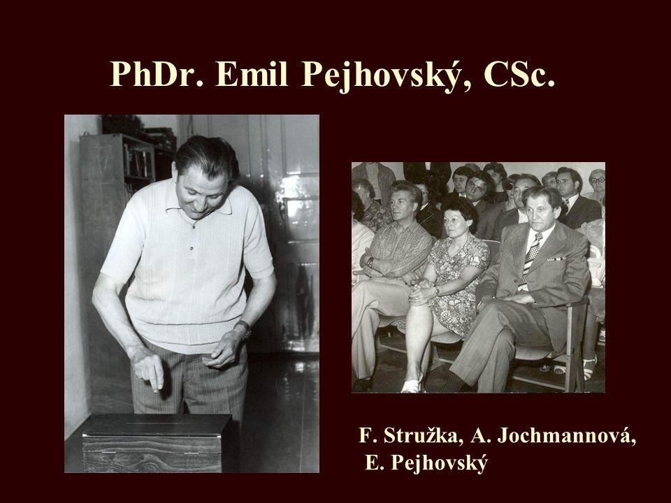 PhDr. Emil Pejhovský, CSc.