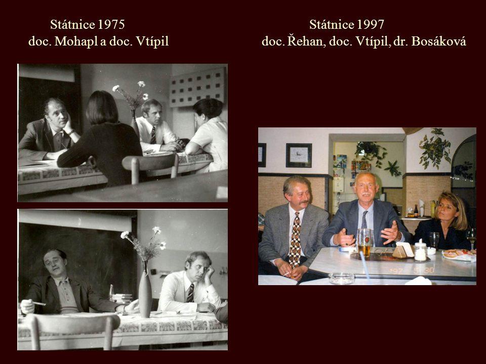 Státnice 1975 Státnice 1997 doc. Mohapl a doc. Vtípil doc. Řehan, doc