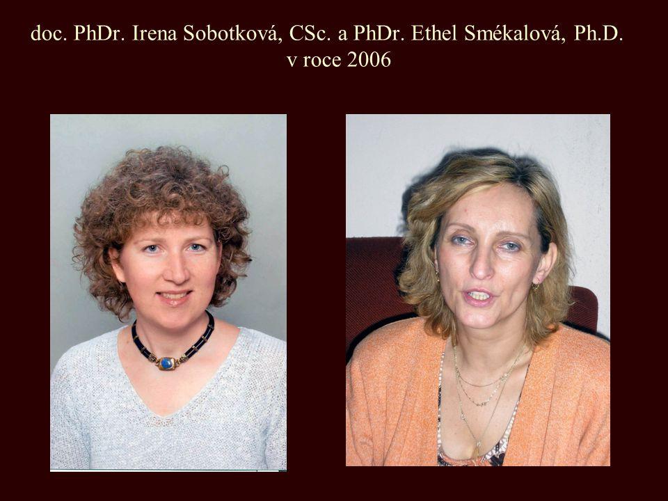 doc. PhDr. Irena Sobotková, CSc. a PhDr. Ethel Smékalová, Ph. D