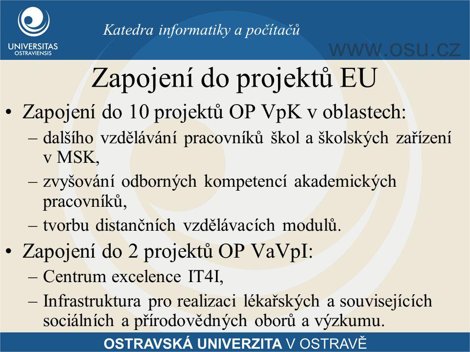 Zapojení do projektů EU