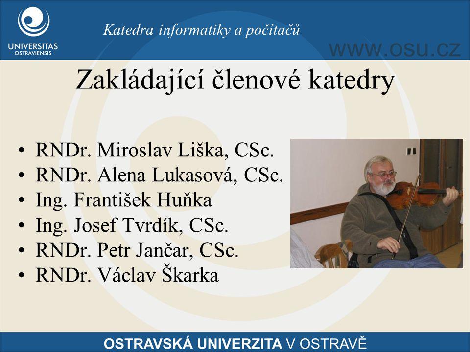 Zakládající členové katedry