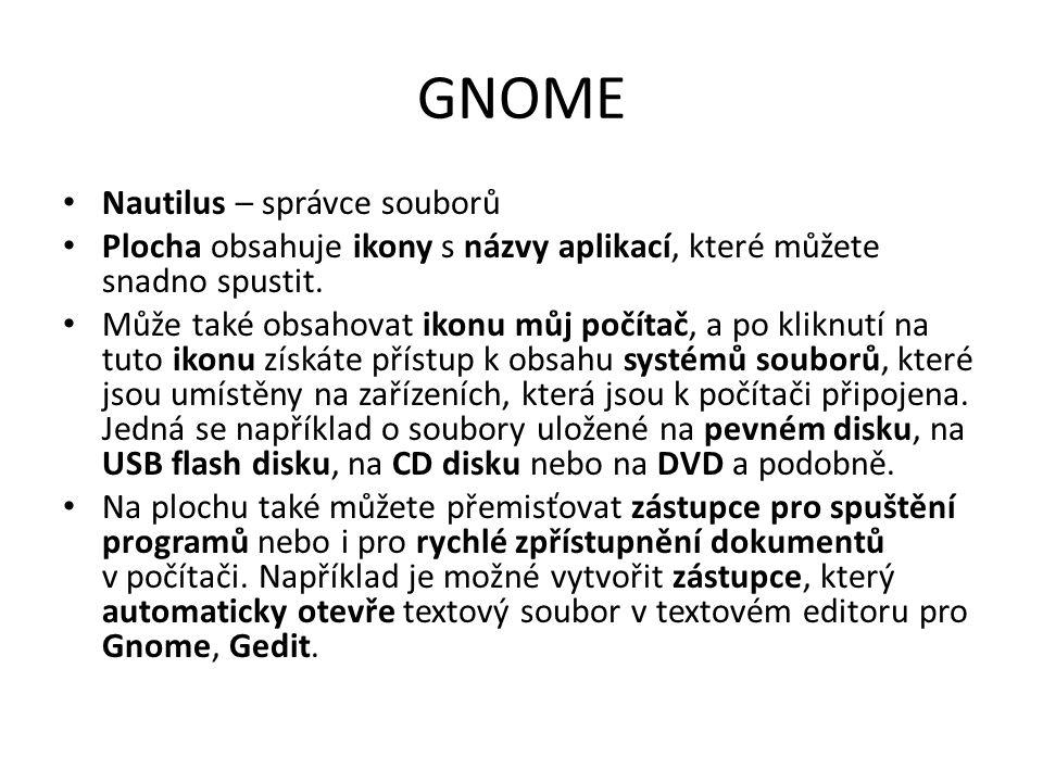 GNOME Nautilus – správce souborů