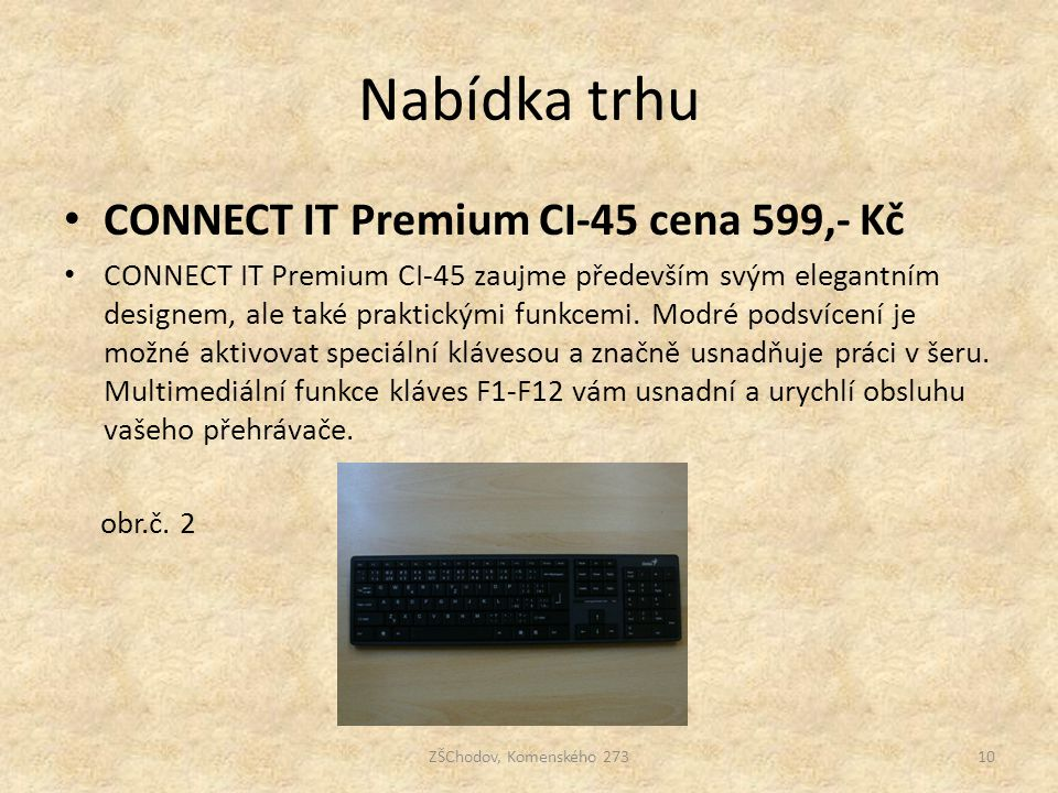 Nabídka trhu CONNECT IT Premium CI-45 cena 599,- Kč