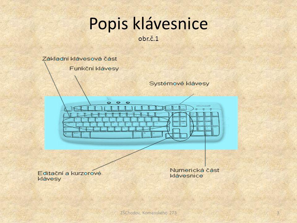 Popis klávesnice obr.č.1 ZŠChodov, Komenského 273