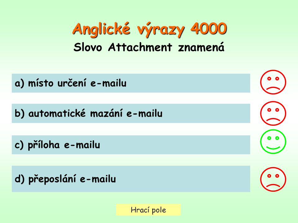 Slovo Attachment znamená