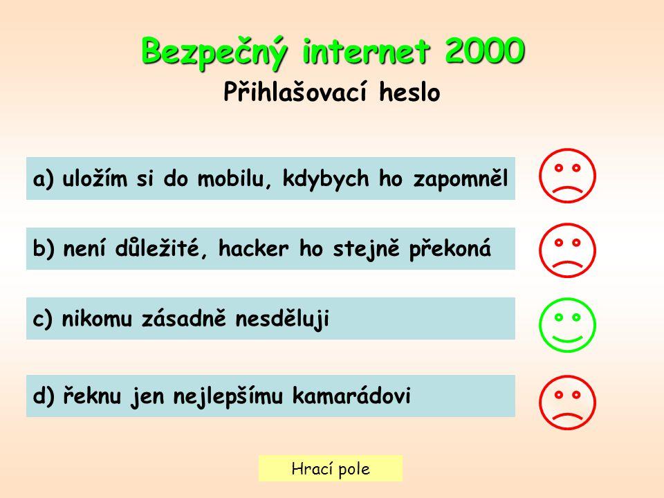 Bezpečný internet 2000 Přihlašovací heslo