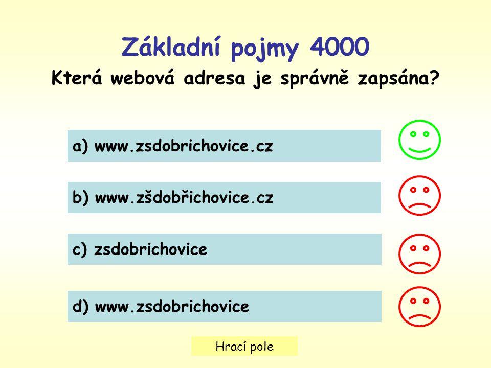 Která webová adresa je správně zapsána