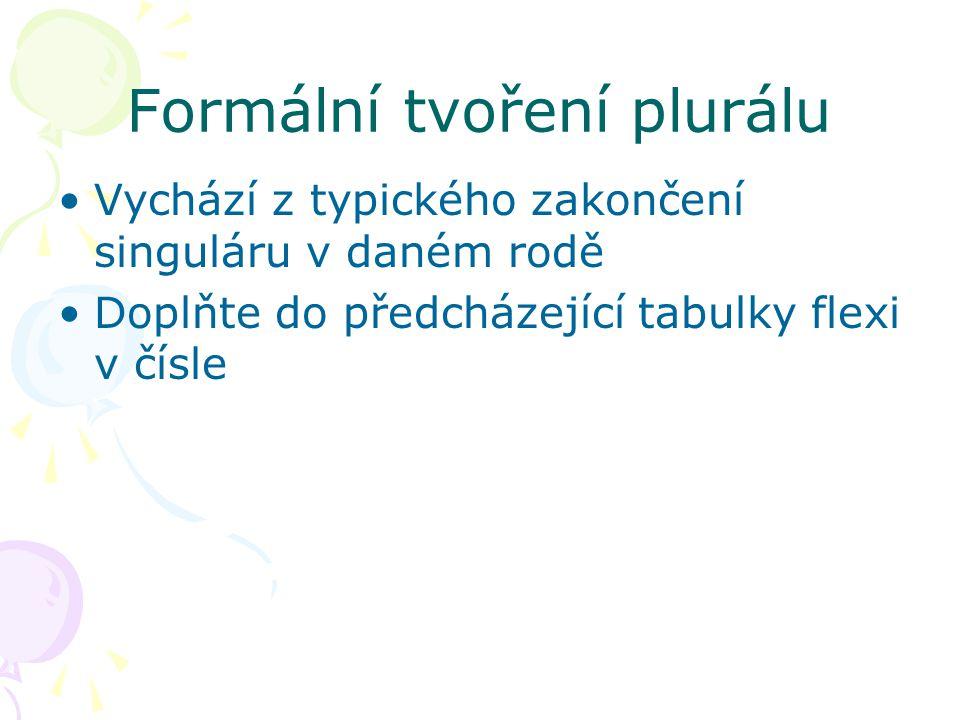 Formální tvoření plurálu