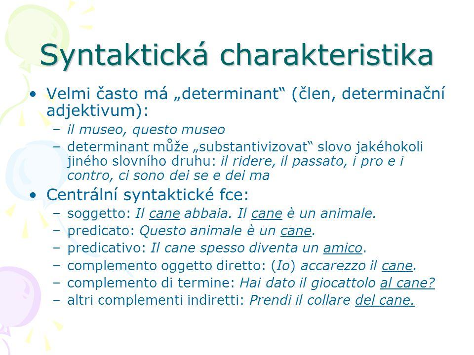 Syntaktická charakteristika