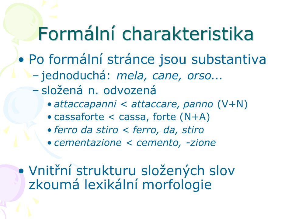 Formální charakteristika