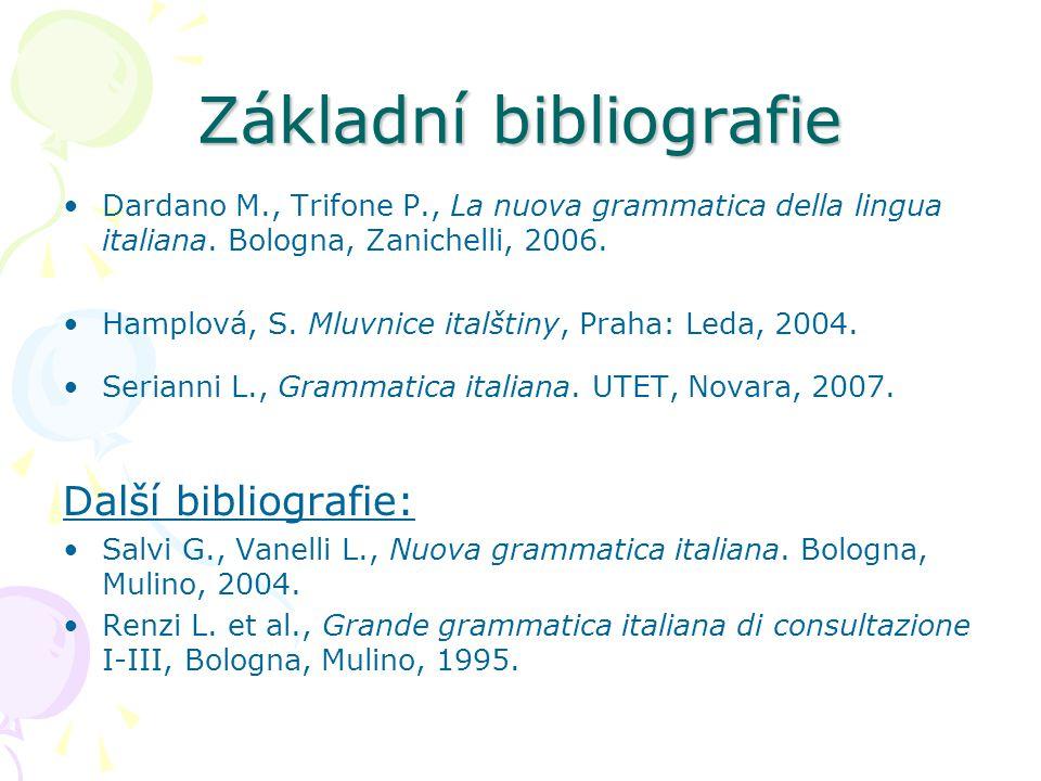 Základní bibliografie