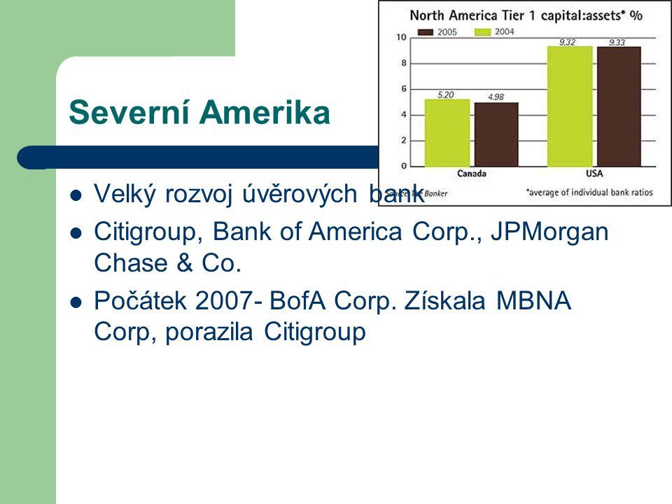 Severní Amerika Velký rozvoj úvěrových bank