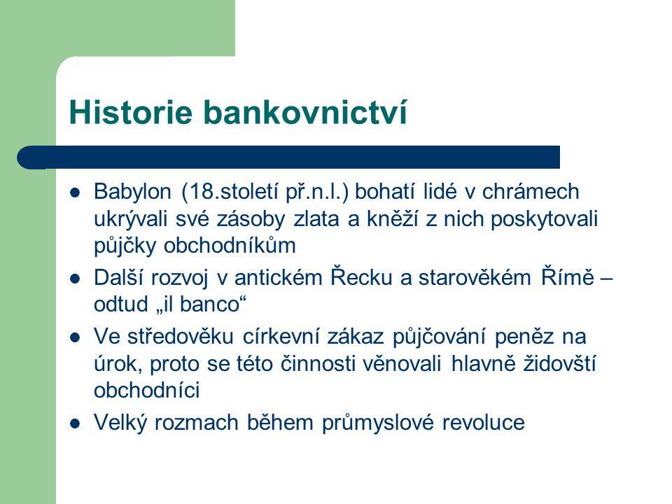 Historie bankovnictví