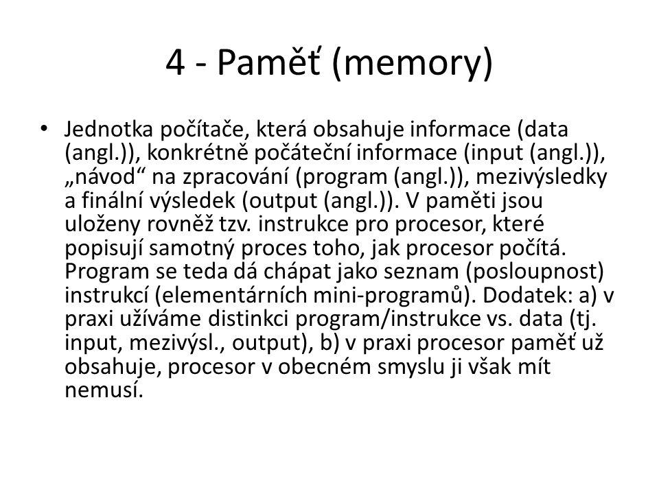 4 - Paměť (memory)