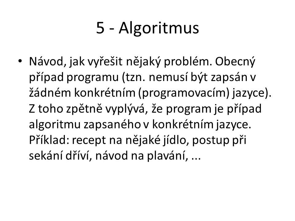 5 - Algoritmus