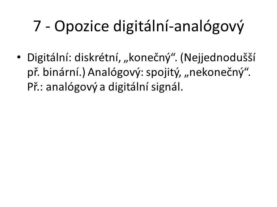 7 - Opozice digitální-analógový