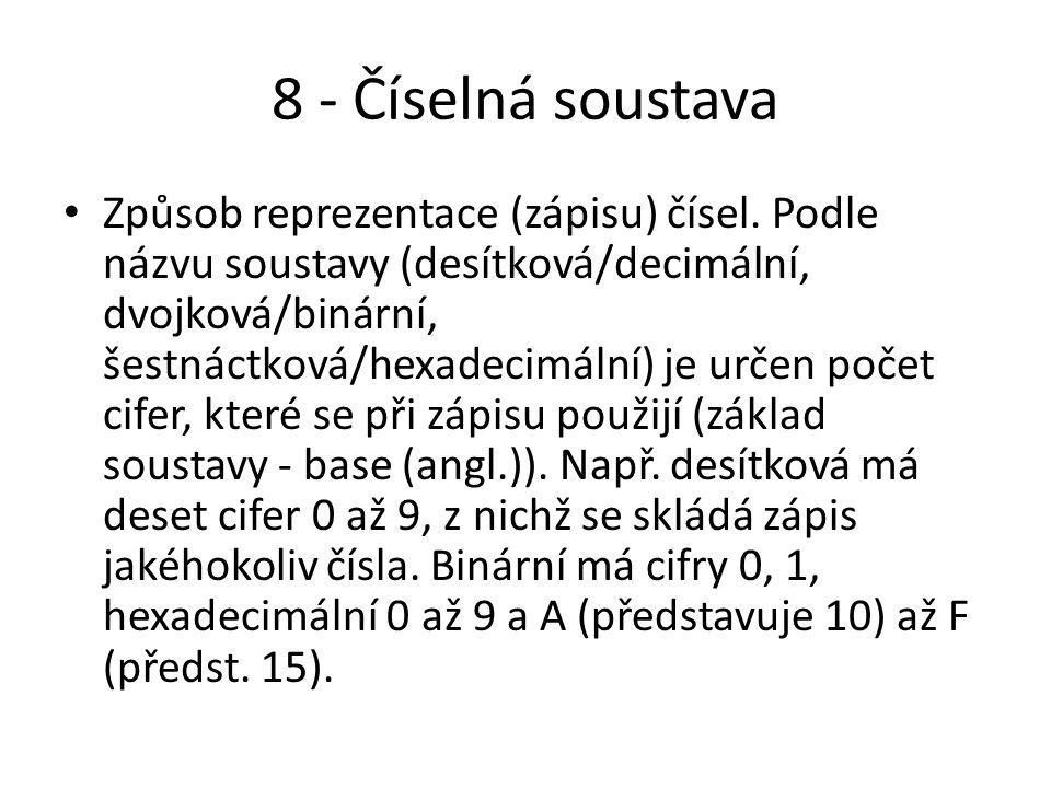 8 - Číselná soustava