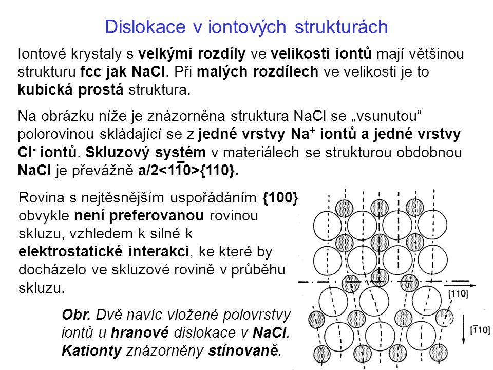 Dislokace v iontových strukturách