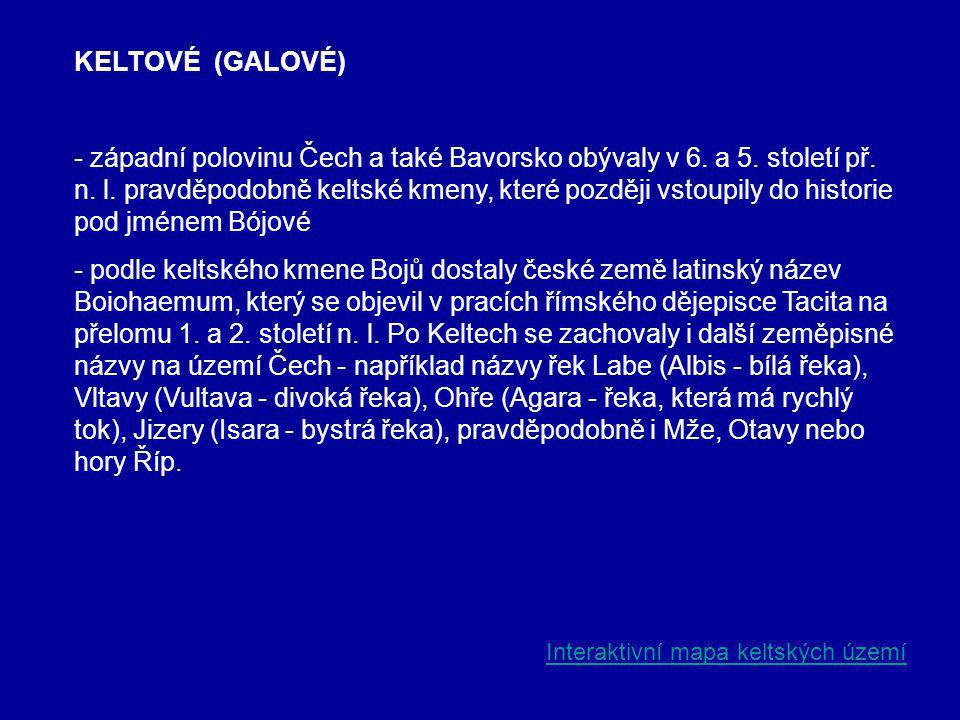 KELTOVÉ (GALOVÉ)