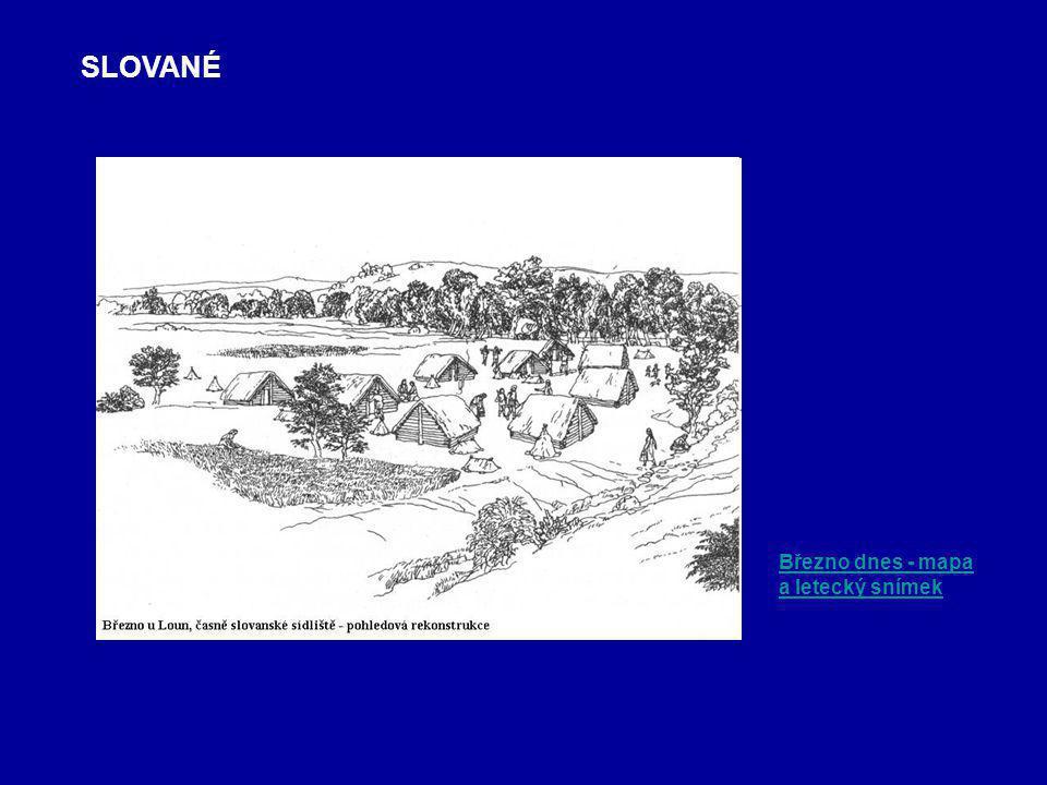 SLOVANÉ Březno dnes - mapa a letecký snímek