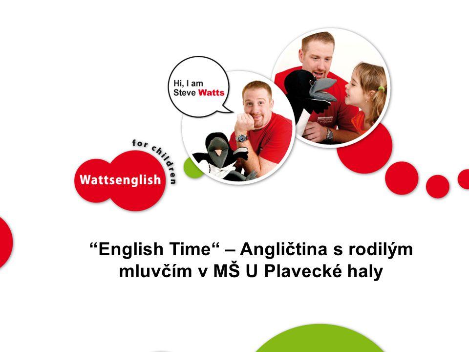English Time – Angličtina s rodilým mluvčím v MŠ U Plavecké haly