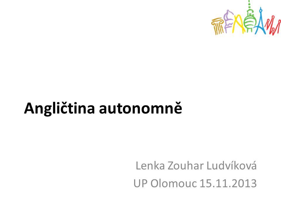 Lenka Zouhar Ludvíková UP Olomouc 15.11.2013