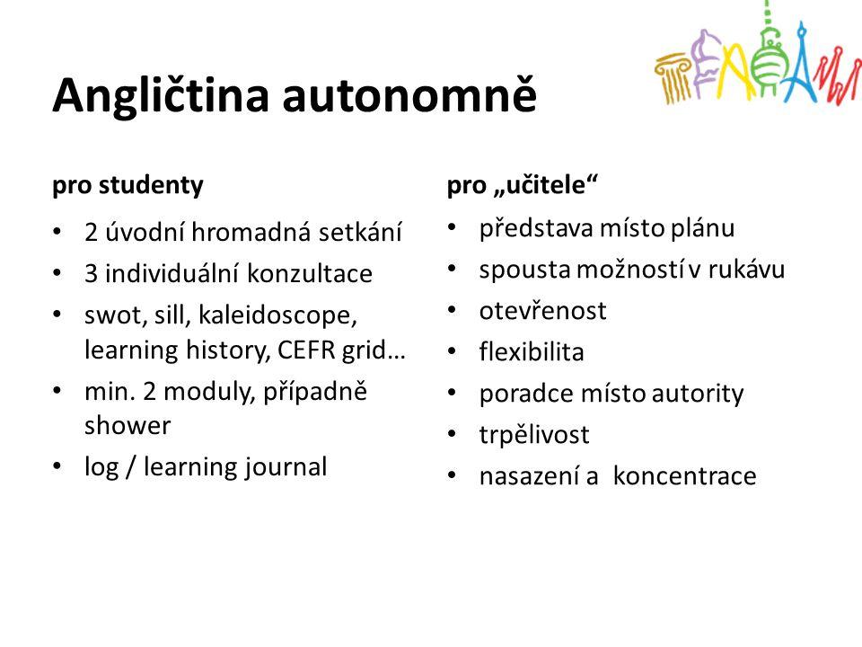 """Angličtina autonomně pro studenty pro """"učitele"""