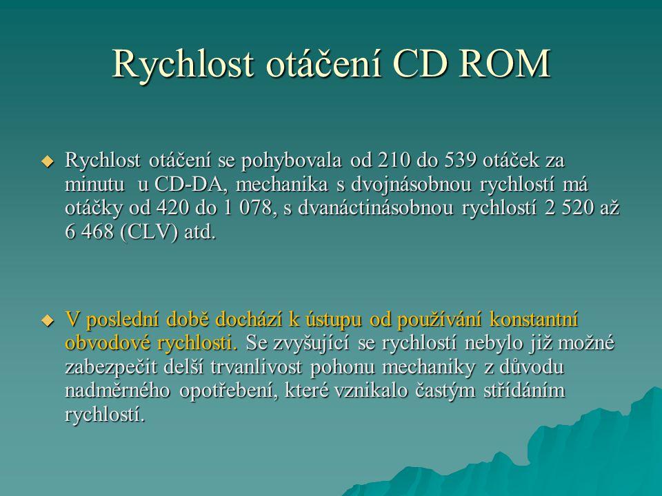 Rychlost otáčení CD ROM