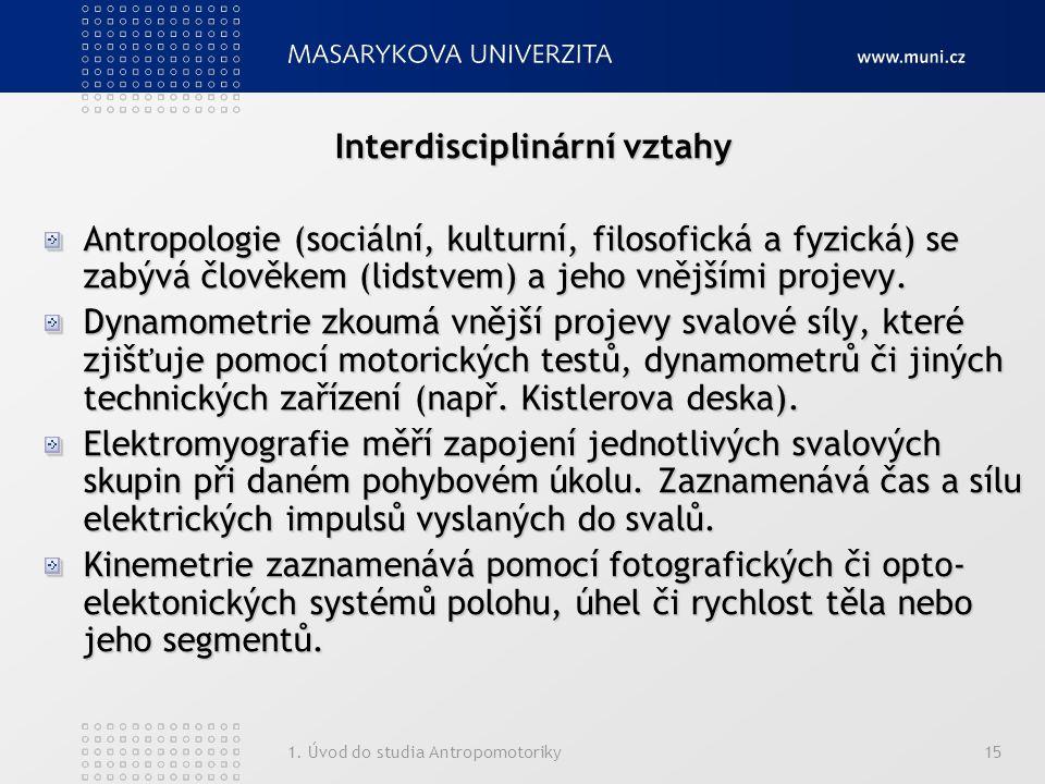 Interdisciplinární vztahy