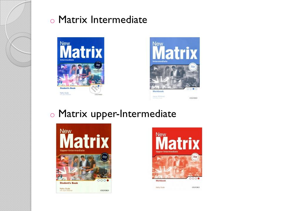Matrix Intermediate Matrix upper-Intermediate