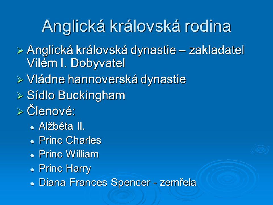 Anglická královská rodina