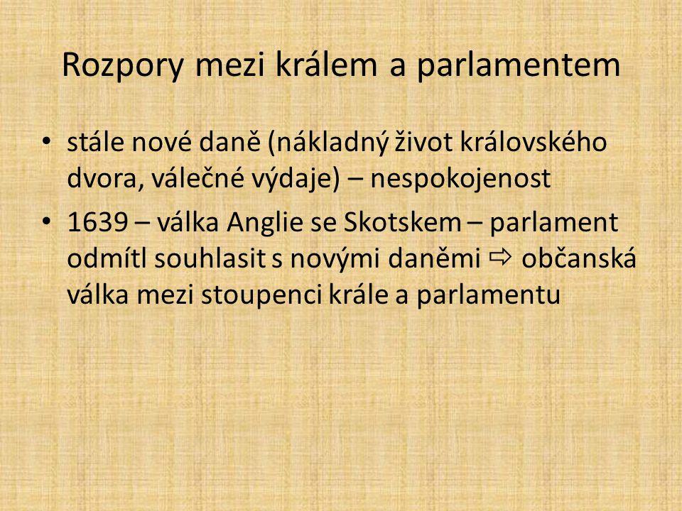 Rozpory mezi králem a parlamentem
